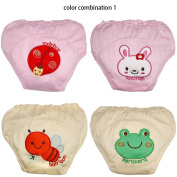 4pcs Cotton Baby Training Pants Boy Girl Infant Learning Nappies Briefs