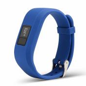 Silicone Band for Garmin Vivofit 3,Gentman Replacement Wrist Band Sports Wristband Strap with Metal Buckle for Garmin Vivofit 3