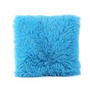 Foutou Winter Furry Velvet Solid Cushion Cover 18x18