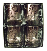 Woodcock engraved 590ml whisky glass.