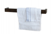 Wireworks 60 cm Single Towel Rail, Brown