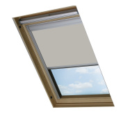 Bloc Skylight Blind CK02 for Velux Roof Windows Blockout, Pale Stone