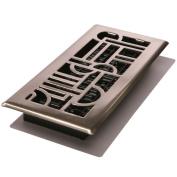 Decor Grates Art DECO Floor Register, Brushed Nickel, 10cm By 30cm