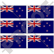 """NEW ZEALAND Flag Kiwi 40mm (1,6"""") Mobile Cell Phone Vinyl Mini Stickers, Decals x6"""