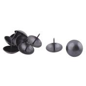 sourcingmap® Metal Furniture Round Head Upholstery Thumb Tack Nail Ornament Pushpin 25 x 25mm 9pcs Black