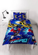 Transformers 'Hero' Single Duvet Set - Repeat Print Design