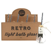 Drinking Glasses Retro Light Bulb Glasses With Straw And Display Box Set Of 8