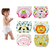 6PCS Baby Infant Waterproof Training Pants Nappy Nappy Underwear Kids Potty Cloth Nappy