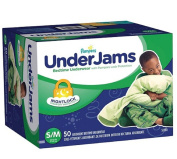 Pampers UnderJams Bedtime Overnight Protection Underwear For Boys S/M 50 Count, New!!!