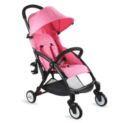 Baby Stroller Light Weight Stroller Portable Stroller(Pink) - Tiny Wonders