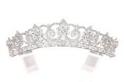 Princess Rhinestones Crystal Flower Bridal Wedding Pageant Tiara Crown t1145