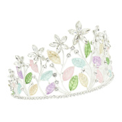 CamingHG Prom Princess Gold Plated Crystal Leaf Branches Hair Tiaras With Clips Crown