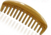 Myhsmooth Gs-by-wt Handmade Natural Green Sandalwood No Static Comb with Aromatic Scent for Detangling Curly Hair and Gift