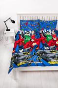 Justice League 'Inseption' Double Duvet Set - Repeat Print Design