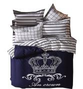 Ningkotex Cute Cartoon Print Duvet Cover Pillow Case Queen Kid's Girl Boy Bedding Set