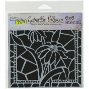 Crafter's Workshop Template 15cm x 15cm -Stained Glass Daisies