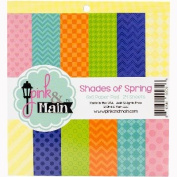 Pink & Main Double-Sided Paper Pad 15cm x 15cm 24/Pkg-Shades Of Spring, 6 Designs/4 Each