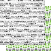 Full Marathon & Green Chevron 30cm x 30cm Double-Sided Scrapbook Paper - 1 Sheet