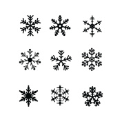 Snowflake Stencil Template - Reusable Stencil with Multiple Sizes Available