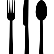 Knife Fork Stencil Template - Reusable Stencil with Multiple Sizes Available