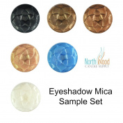 Eyeshadow Mica Colour Sample Set - Best Colours for Making Your Own Eyeshadow - Easy to Use Cosmetic Mica Powder 7 Sample Size Mica Colours
