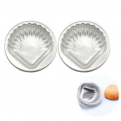 ULTNICE 2pcs Metal Bath Bomb Moulds Aluminium Alloy DIY Shell Moulds for Cake Decorating