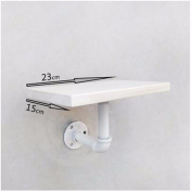 THk & M Solid Wood Partitions Shelf Wall Mounted Water Pipe Frame Retro Iron,D,23*15*17CM