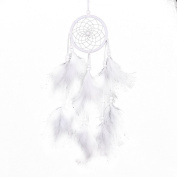 Cdet Wind Chimes Dreamcatcher Handmade White Feather Car Accessories Wall Hanging Pendant Home Decoration