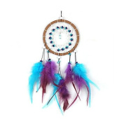 2×Forest Dreamcatcher Gift Handmade Dream Catcher Net With Feathers Wall Hanging Decoration Ornament,Rainbow Wedding Party Home Car Wall Hanging Decor Festival Holiday Gift Hand Craft for Kids and Friends