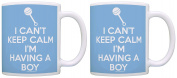 New Mom Gifts Can't Keep Calm Having a Boy Pregnant Mother Mom Mug 2 Pack Gift Coffee Mugs Tea Cup
