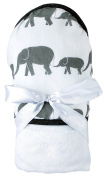 Ultra Soft Bamboo Hooded Baby Bath Towel - Extra Large - Elephant - Super Absorbent