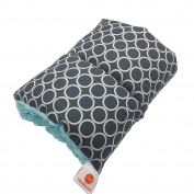 Pello Comfy Cradle - Slip-on Arm Pillow for Baby Nursing - Reversible, Adjustable, Washable, Durable, Majestic/ Aqua
