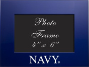 United States Naval Academy - 4x6 Brushed Metal Picture Frame - Blue