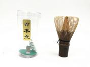 Handmade Natural Bamboo Matcha Whisk, 100 Prongs Chasen for Preparing Matcha