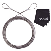 eBoot Picture Hanging Wire 2 mm x 6 m with 2 Crimp Tube Hold Up to 60Kg