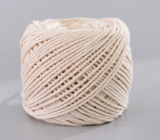 (3mm x 100m(about 109 yd)) Handmade Decorations Natural Cotton Bohemia Macrame DIY Wall Hanging Plant Hanger Craft Making Knitting Cord Rope Natural Colour Beige