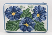 Cosmetic Purse - Morning Glory - Needlepoint Kit