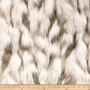 Shannon Faux Fur Tibetan Sand Fox Ivory/Beige Fabric By The Yard