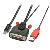 LINDY 5 m DVI-D to mDP Adapter Cable - Black