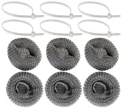 Set of 6 Washing Machine Lint Traps! Long Lasting - Rustproof - Stainless Steel - Keeps Lint From Clogging Pipes! A Must Have!