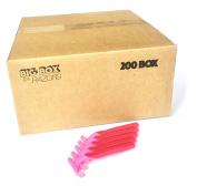 200 Box of Quality Pink Bulk Disposable Twin Blade Razors for Women