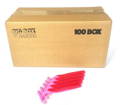 100 Box of Quality Pink Bulk Disposable Twin Blade Razors for Women