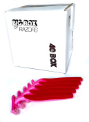 40 Box of Quality Pink Bulk Disposable Twin Blade Razors for Women