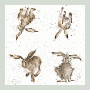 Wrendale Designs 'Hare Brained' Paper Napkins - Pack of 20
