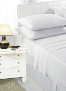 RAYYAN LINEN'S WHITE DOUBLE FITTED SHEET IN 100% EGYPTIAN COTTON 200 THREAD COUNT   BED LINEN   BED SHEET 200TC