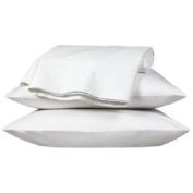 Extra Large luxury pillowcase Pair, White, To fit large pillow, box pillow, polycotton.