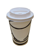 Benders Milano 8oz-12oz-16oz Barrier Disposable Paper Coffee Cups With White Sip Lids (8oz