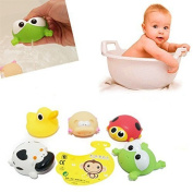 MyToy Big Size 6-Pack Baby Bath Toys Soft Rubber Float Squeeze Bathing Toy For Baby With Free Storage Net.--- Colourful,Non-toxic,Mixed Animals