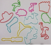 Shaped Funbands Rubber Bands Contains 12 Shaped Rubber Bands