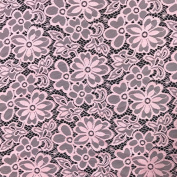 Stretch Lace Fabric Embroidered Poly Spandex French Floral 150cm Wide by the yard